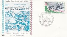 France 1974 1799 FDC Débarquement en Normandie oblitération Arromanches