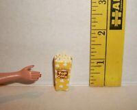 MINIATURE RE-MENT FASHION DOLL 1/6 ACCESSORY RETIRED MOVIE POPCORN BOX FOOD