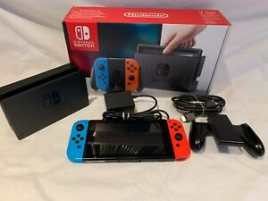 Nintendo Switch Console with Neon Blue/Neon Red Joy-Con Controllers,