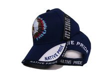 Native American Pride Indian Blue Shadow Baseball Style Ball Cap Hat  (RAM)