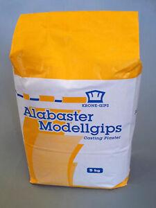 Feinster Alabaster feiner Modellgips KRONE-GIPS Gips Modelliergips fein 5 kg