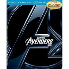 The Avengers 3D Limited Edition SteelBook [3D + Blu-ray + DVD + Digital, 4-Disc]