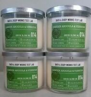 4~Bath & Body Works GARDEN ARUGULA & VERBENA Watercress 3 Wick Candle 14.5 OZ