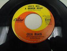 "Cilla Black Yesterday / Love's Just a Broken Heart 7"" 45 rpm Capitol VG+"