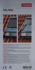 Bedienungsanleitung 7-sprach.: Rollladen und Markise VELUX INTEGRA Solar SSL/MSL
