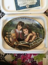"EUC Bradford Exchange Plate ""Sisters Share Soft Summer Dreams"" By Chantal Poulin"