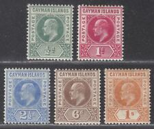 Cayman Islands 1905 King Edward VII Set Mint SG8-12 cat £85