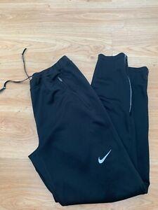 Medium Mens Nike DRI-FIT Running Tights Leggings Bottoms in Black / Bargain 99p