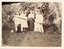 Guadeloupe, colons français  Vintage albumen print  Tirage albuminé  9x12