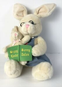 Kids Preferred Cottontail Bunny Reading a Book to baby