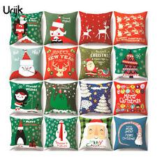 Sofa Auto Cushion Cover Weihnachten Dekokissen Kissenhülle Kissenbezug JO