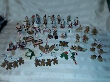 Lot Of Over 50 Miniature Christmas Ornaments Hallmark Mera Vic Thimble Unique