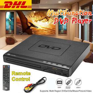 CD DVD Player UHD Spieler Upscaling USB AV Anschluss mit Fernbedienung für TV
