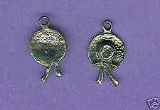 lead free pewter red hatter charm 1217