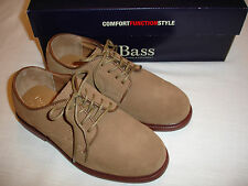 BASS Tan Browns Brushed Suede Leather Laces Bucs Oxfords Boys Shoes Sz 5 M