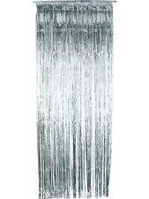 Décoration Pour Fête Porte Guirlande Chatoyant Rideau Argent 91x244 cm par