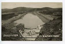 Enfield MA Quabbin Dam RPPC Real Photo Postcard