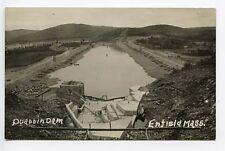 Enfield MA Quabbin Dam RPPC Real Photo Postcard