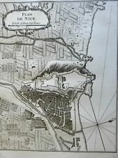 Nice Provence France military fortifications 1760 Bellin detailed city plan