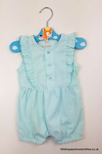 3-6 month Mamas and Papas baby girl green romper playsuit