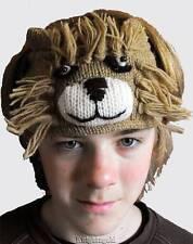 Lion Head Sweat Band Hand Knit 100% Wool Polyfleece Lined 48 cm Nepal