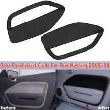 Fit For 05-09 Ford Mustang Door Panel Insert Cards Synthetic Leather Cover