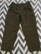 Vintage K Begemann Green Wool German Military Cargo Pants 1962 32x30 Hiking