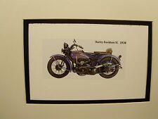 1930 Harley Davidson VL  Motorcycle Exhibit Celebration artist Illustrated