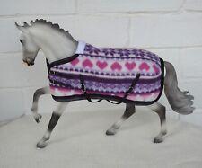 Handmade fleece rug blanket fit 1:9 Traditional Breyer toy horse pink purple