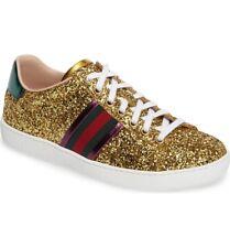 GUCCI Women's New Classic Ace Glitter low-top Sneaker Shoes Size 38 EU / 8 US