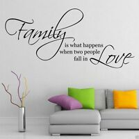 Family Love Wall Art Sticker Quote Living Room Decal Mural Stencil Transfer
