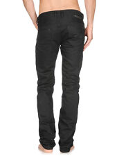 NWT DIESEL Mens SAFADO 008QU Black Jeans (W 32 X L 30) Regular slim Straight-Leg