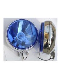 "PAIR 6"" BLUE FRONT BULL BAR GRILLE LIGHT BAR CHROME SPOT LIGHTS TRUCK LORRY SUV"