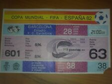 Ticket World Cup Spain 1982 POLAND - BELGIUM (game #38)