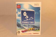 FAMILY SKI NAMCO NINTENDO Wii COMPATIBLE Wii-U JAPAN NTSC-J