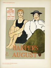 "Orig 1897 litho ""Tom Sawyer Harper's August"" Edward Penfield –Das Moderne Plakat"