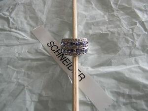 Premier Designs ONE & ONLY tanzanite rhodium cz ring sz 6 RV $74 gorgeous!!