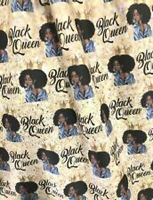 Printed Fabric - Black Queen Yellow