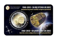 2 Euro BELGIEN 2018 Coincard   50 Jahre europäischer Satellit ESRO  VVK