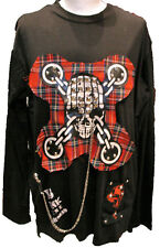 SDL top with skull print cut out detail L