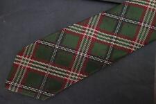 NWT Brooks Brothers Green & Burgundy Twill Tartan Silk Tie  MSRP $59.50