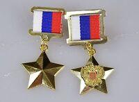 Russland UDSSR Orden Medaille Held der Russischen Föderation CCCP 2 St.