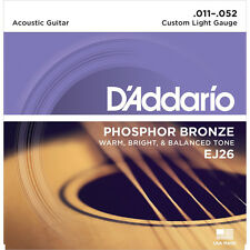 D'Addario Ej26 Phosphor Bronze Custom Light Acoustic Guitar Strings (11-52)