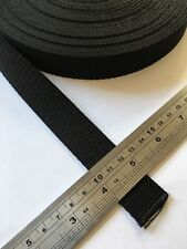 Polypropylene Webbing Strap 25 mm Bag Making, Belts, Leads With or Without Clips
