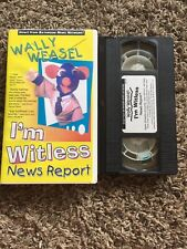 Wally Weasel I'm Witless News Report Vhs video 1993 Iwnr Limited Partners