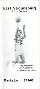 1979-80 East Stroudsburg Warriors Basketball Prospectus HC Ken Sisson