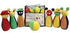 toddler baby soft bowling skittles  set toys rattles