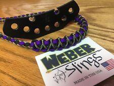 Weber BOW WRIST SLING  Black ,Purple, Camp With Multi Camo Braid X Weave
