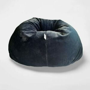 Bean Bag Cover Fur Jumbo Sofa Chair Without Beans Navy Blue for a luxuries Home