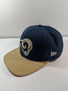 St. Louis Rams New Era 9Fifty Hat Blue Gold Cap Adjustable Pre-Move NFL Football